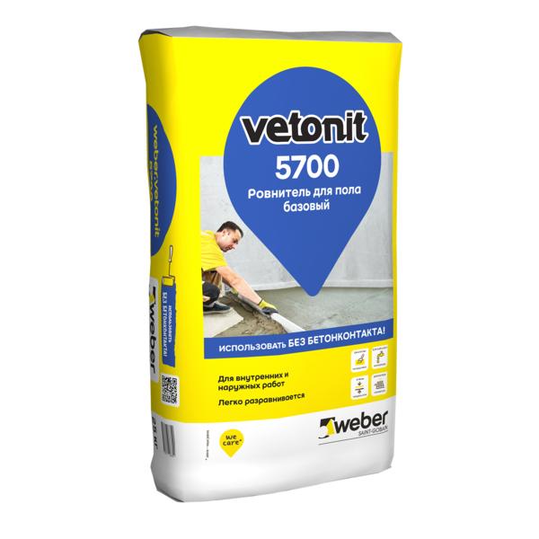 Ровнитель для пола Вебер Ветонит 5700 базовый на цементном вяжущем 25к - купить в Ново-Токсово, отзывы. ТД «Вимос»